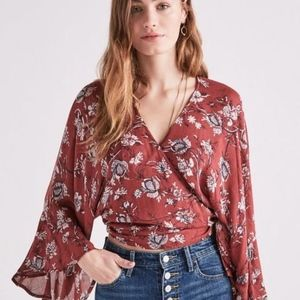 NWT Lucky Brand Printed Wrap Floral